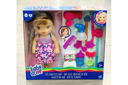 Baby Alive Cute Hairstyles Baby Doll Brunette With Accessories Hasbro
