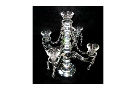 High Class Medium Sized Luxury Crystal 5 Branch Candelebra