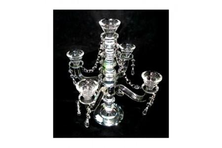 High Class Medium Sized Luxury Crystal 5 Branch Candelabra