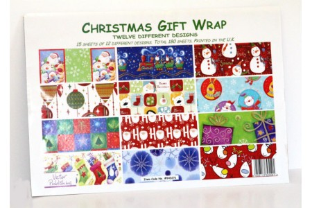 Christmas Gift Wrapping Paper Bundle 180 Sheets